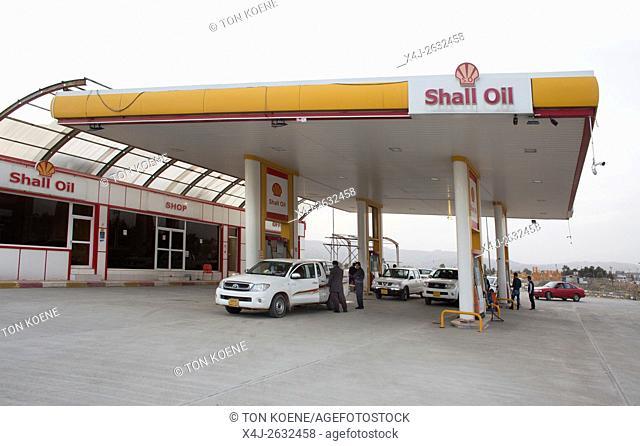 petrol station in Northern Iraq