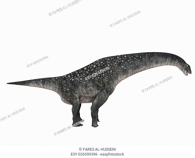 3d render depicting a dinosaur, which lived during the Cretaceous period, isolated on white