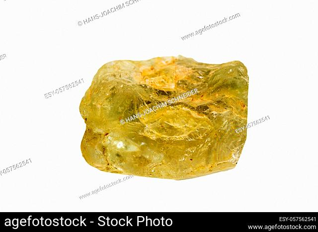 Topaz on a white background