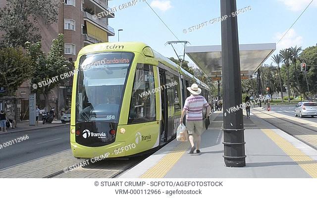 Tram Station, City of Murcia, Spain