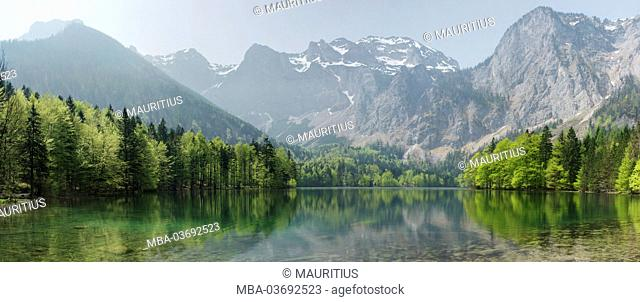 HDR panorama, landscape, Langbathsee, spring