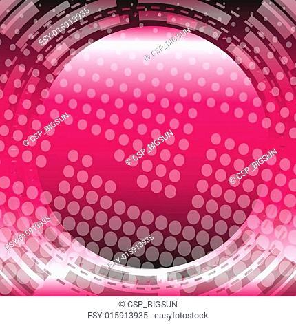 Circle dots pink background