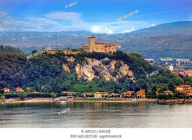 Castle Rocca di Angera, Lago Maggiore, Angera, province Varese, Lombardy, Italy