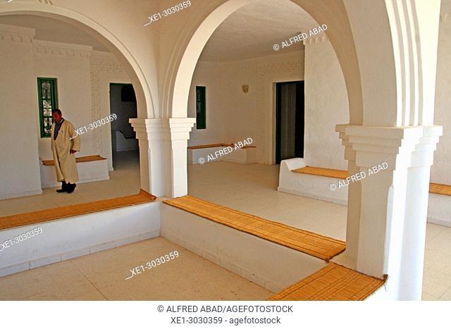 benches and arcades, Guellala Museum, Djerba, Tunisia