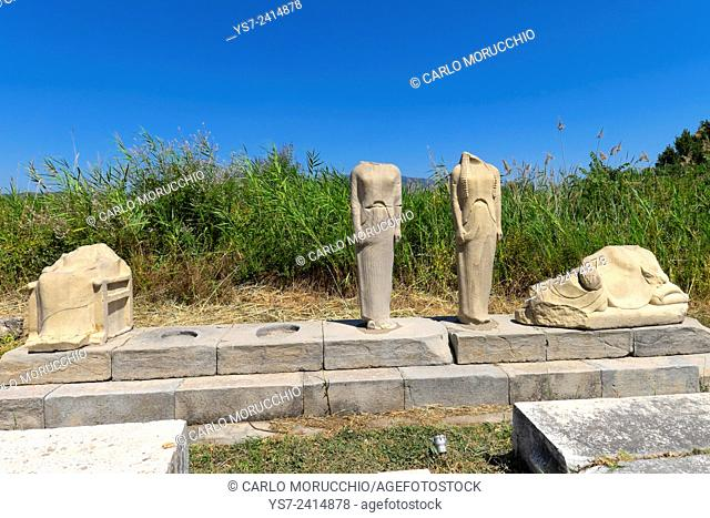 The Geneleos sculptural group, Heraion of Samos, Samos island, North Aegean islands, Greece, Europe