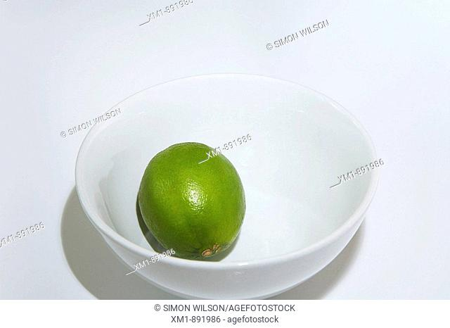 lime in white bowl