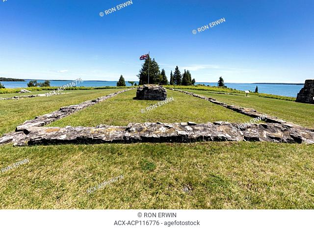 Ruins at Fort St. Joseph National Historic Site of Canada, St. Joseph Island, Ontario, Canada