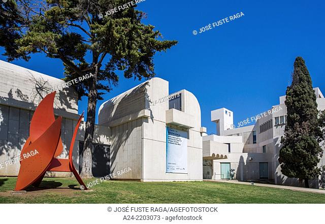 Spain, Catalonia, Barcelona City, Miro Museum