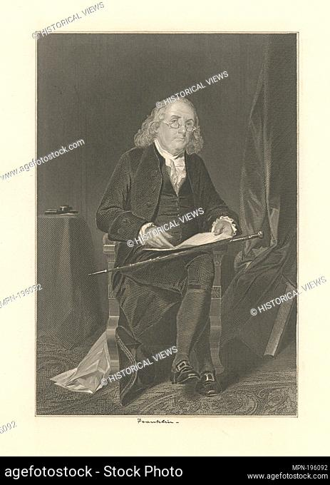 Benja. Franklin. Chappel, Alonzo (1828-1887) (Artist). Emmet Collection of Manuscripts Etc. Relating to American History