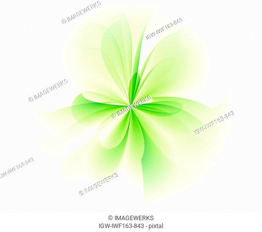 Abstract pattern against white background