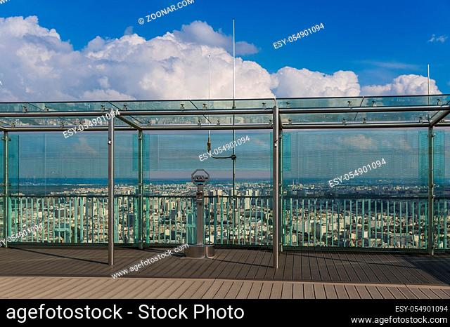 Viewpoint on Montparnasse tower - Paris France - travel and architecture background