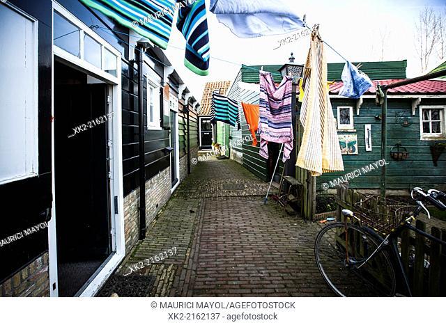 Cloths hanging, real life in Marken, Nederland