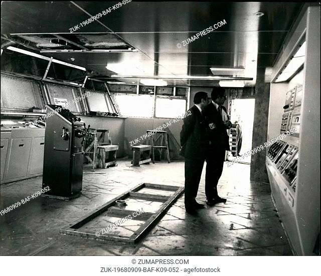 Sep. 09, 1968 - New Cunarder Nears Completion: The new Cunard liner Queen Elizabeth 2, is now nearing completion in the fitting out basin at Clydebank