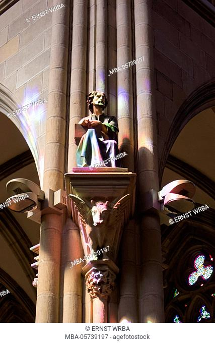 Cathedral Buen pastor, inside, Donostia-San Sebastián, Gipuzkoa, the Basque Provinces, Spain
