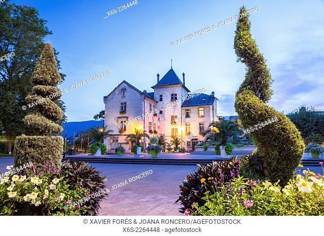 Place Maurice Mollard in Aix Les Bains, Savoie, Rhône-Alpes, France