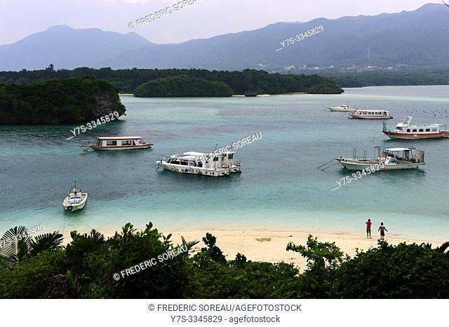 Kabira Bay in Ishigaki island, Okinawa Prefecture, Japan, Asia