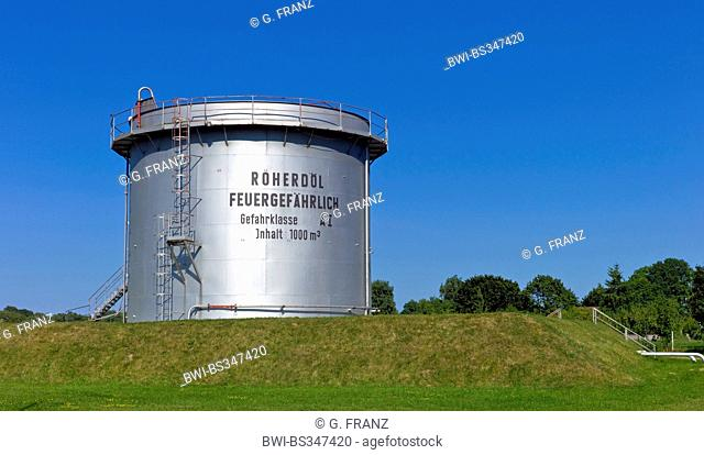 oil tank near Neuendorf, Germany, Mecklenburg-Western Pomerania, Usedom, Gnitz