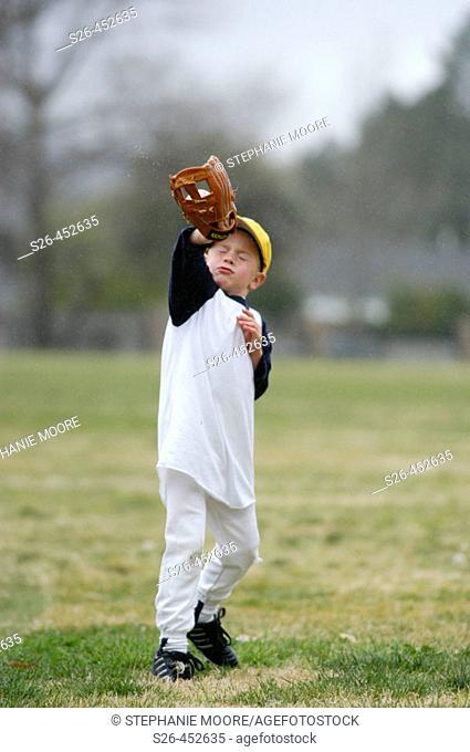 Practice makes perfect. Little league baseball