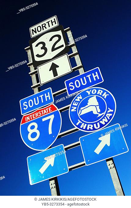 Signs point to the New York State Thruway