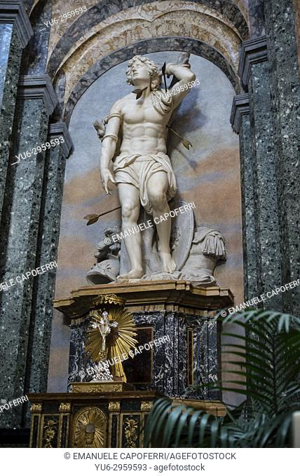 Church of Santa Agnese, chapel of St. Sebastian, Piazza Navona, Rome, Italy
