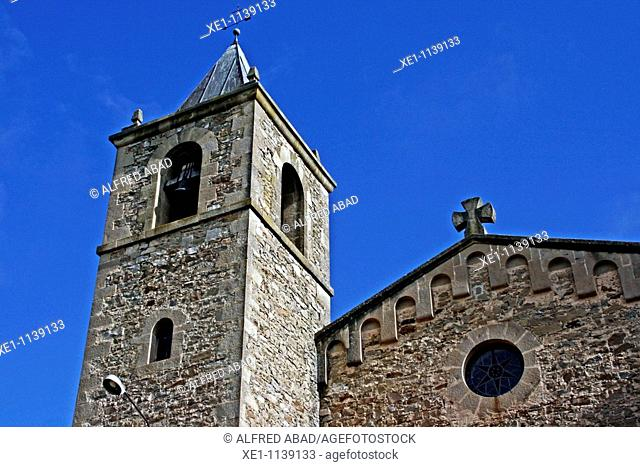 Santa Maria parish's bell, Romanesque, La Molsosa, Solsones, Catalonia, Spain