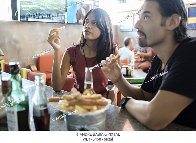 Sports Bar Scene with multiple people, lifestyle. Bucerias, Nayarit, Mexico