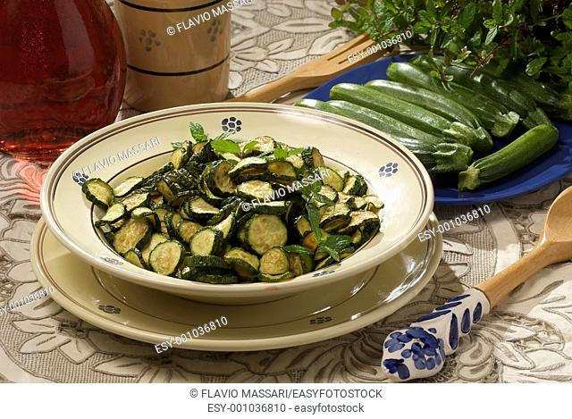 cooked zucchinis