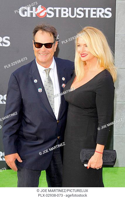 Dan Aykroyd and Donna Dixon at the Los Angeles Premiere of Columbia Pictures' Ghostbusters held at TCL Chinese Theater in Hollywood, CA, July 9, 2016
