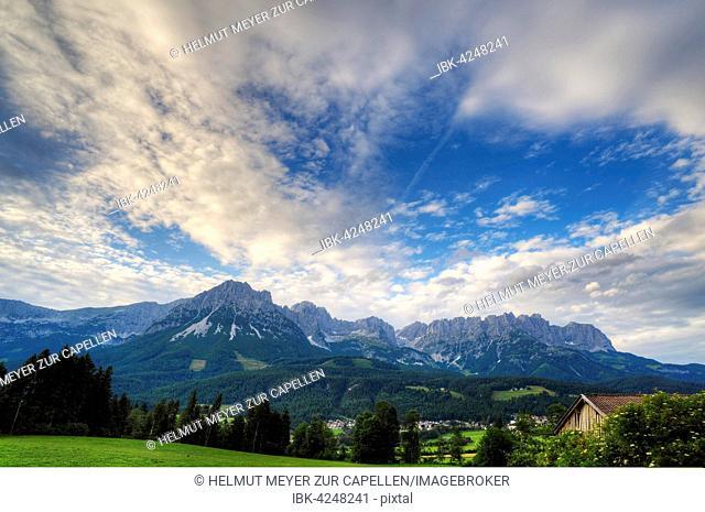 Wilder Kaiser, mountains, cloudy sky, Tyrol, Austria