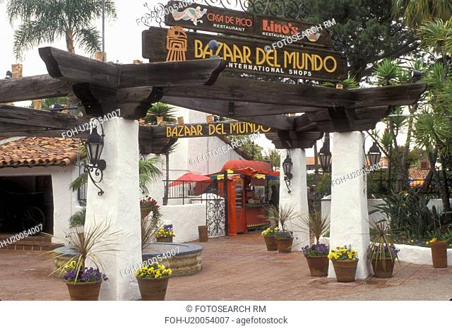 San Diego, California, CA, Bazaar Del Munde at Old Town San Diego State Historic Park in Old Town San Diego