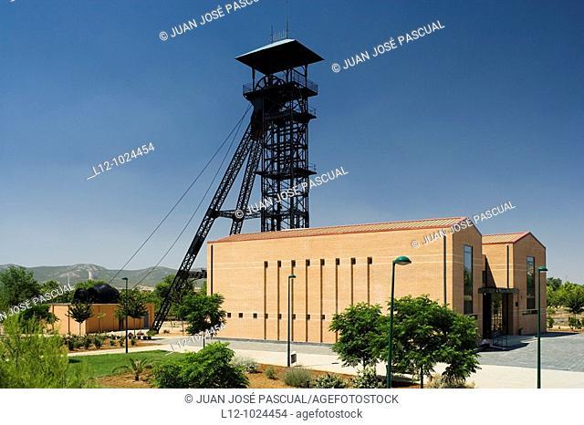 North shaft, Mining Museum, Puertollano, Ciudad Real province, Castilla-La Mancha, Spain