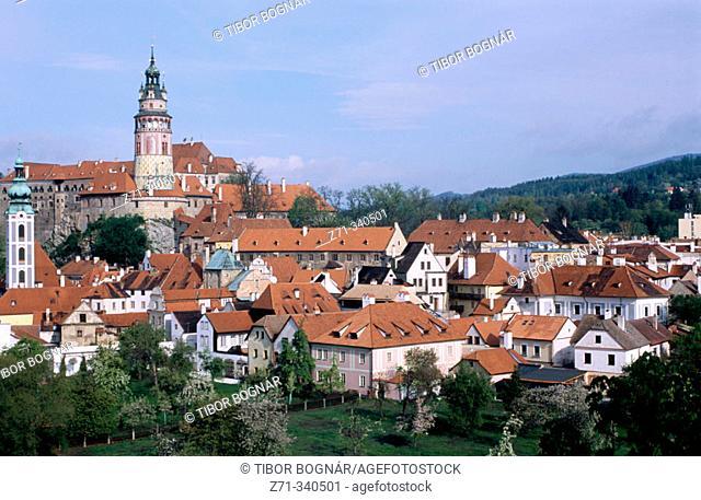 General View. Ceský Krumlov. Czech Republic