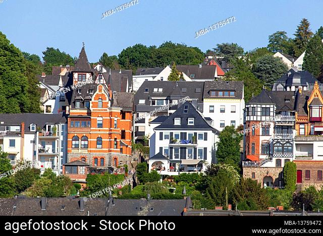 Residential buildings in the Pfaffendorf district, Koblenz, Rhineland-Palatinate, Germany, Europe
