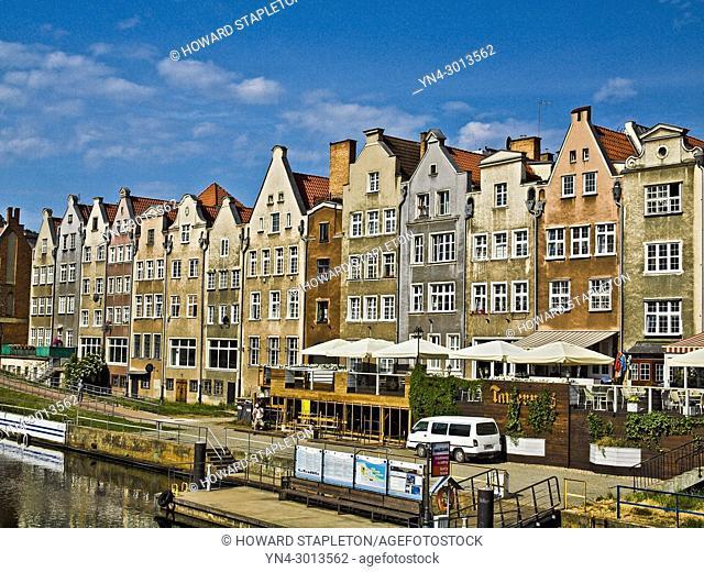 Motlawa canal, Gdansk, Poland