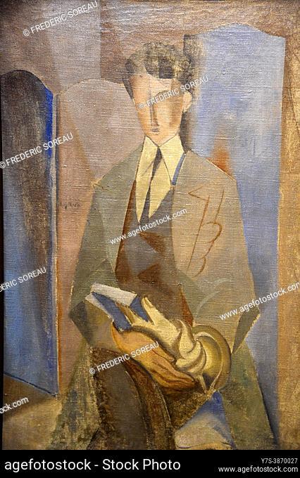 Portrait of Roland Tual, 1921-1922, André Masson, Centre Pompidou Malaga modern art, Andalusia, Spain