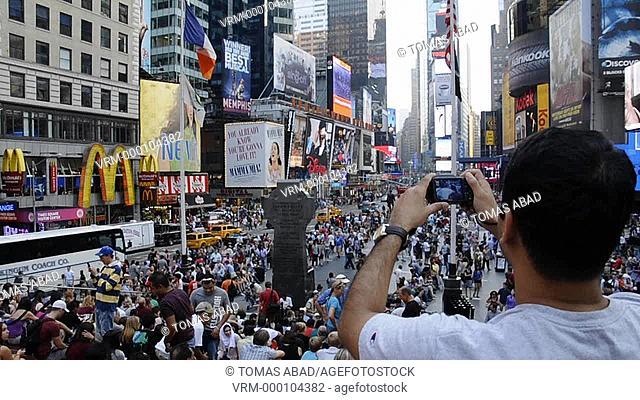 42nd Street, Times Square, New York City, Midtown, Manhattan, USA