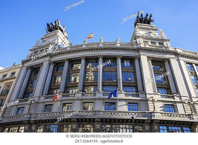 Madrid Banco de Bilbao building, environmental office and territorial planning, Alcala street, Madrid, Spain