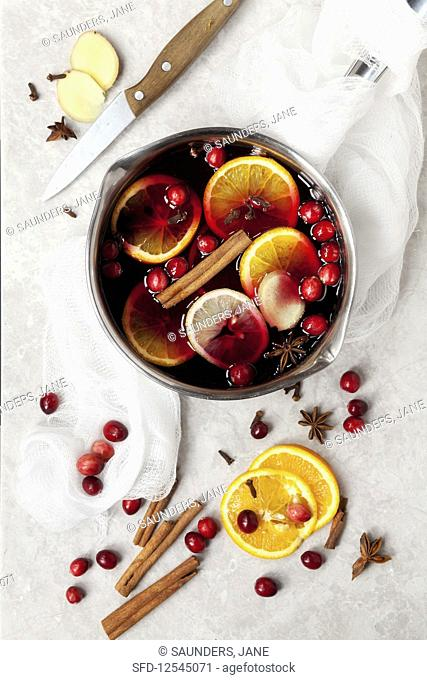 Mulled Red Grape Fruit Juice