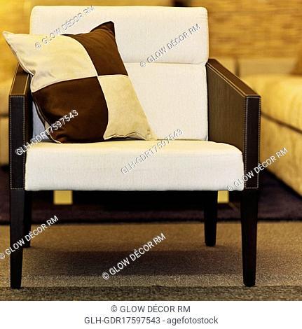 Cushion in an armchair