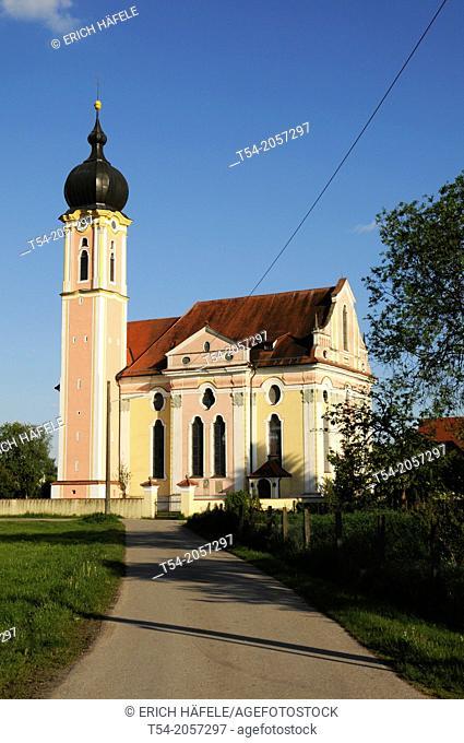 Baroque church in Pless / Lower Allgäu
