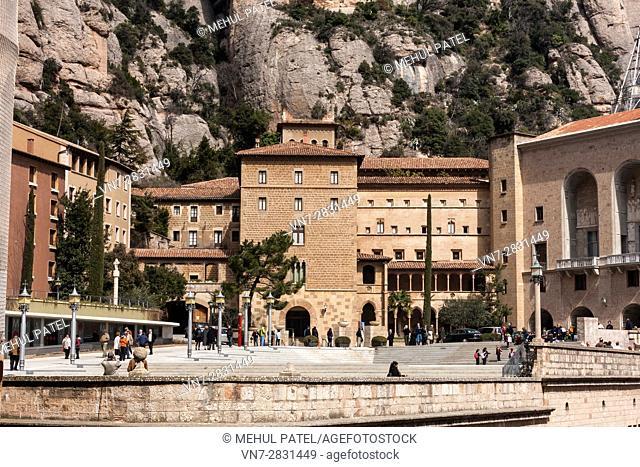 The Sanctuary, Santa Maria Square, Montserrat, Catalonia, Spain