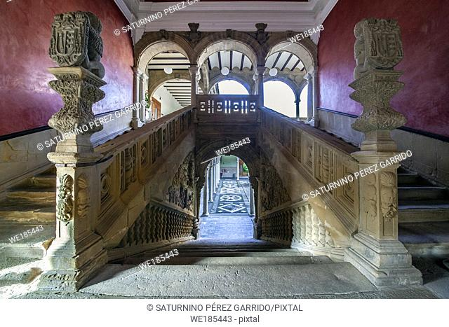 Stairs of the Palace of Jabalquinto of Renaissance art