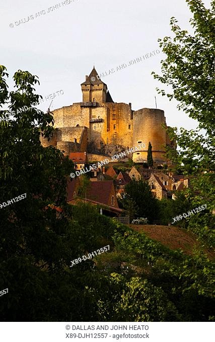 France, Dordogne, Aquitaine, Périgord, Castelnaud Castle, Château de Castelnaud