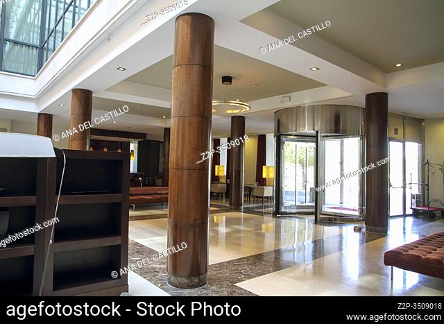Aranjuez Madrid Spain on November 2, 2014: Interior of the NH Collection hotel Aranjuez palace