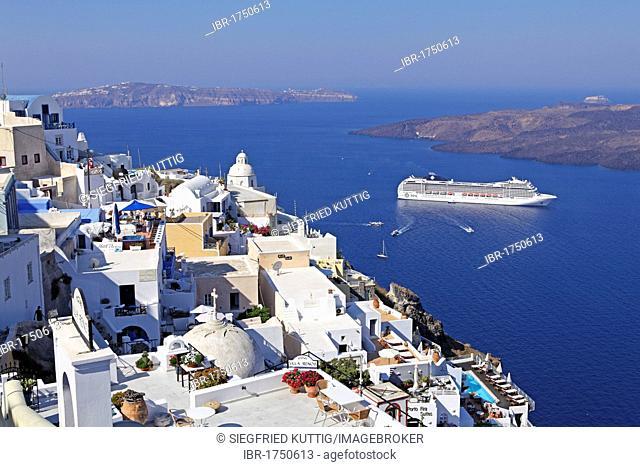 Thira, Santorini, Cyclades, Aegean Sea, Greece, Europe