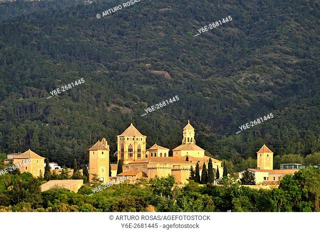 The Monastery or Royal Abbey of Santa María de Poblet in Catalonia, Spain