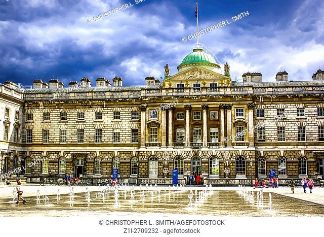 The Edmond Safra Fountain Court and Somerset House London