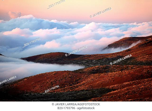 Clouds at sunset, El Teide National Park, Tenerife, Canary Island, Spain