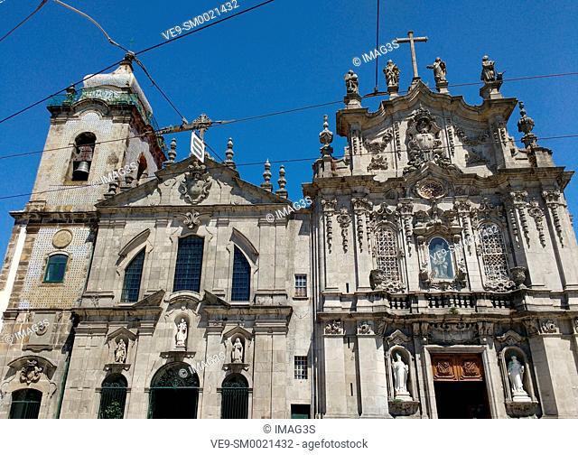 Igreja dos Carmelitas Descalços (left) and Igreja do Carmo (right), Porto, Portugal