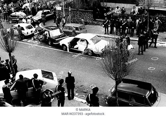 agguato e rapimento di aldo moro, via mario fani, roma, 16 marzo 1978
